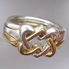 Celtic Hearts Puzzle Ring by KnotRings on Etsy