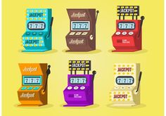 Slot Machine Vector Set