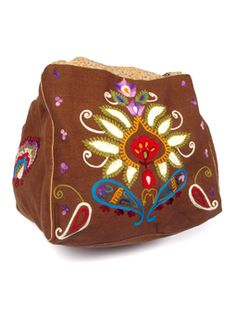 #DC016 Embroidered Carry All #wearbluesky #boho #fairtrade
