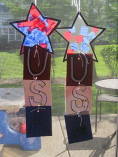 Preschool Crafts for Kids*: 4th of July Tissue Paper Stars Craft