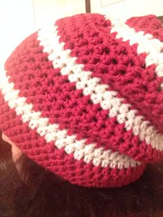 Quick to make crocheted beanie