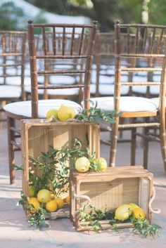 Tuscany Inspired Wedding with Chic Citrus Details - Perfete Outdoor Wedding ceremony decor Table Decoration Wedding, Wedding Details Card, Tuscan Wedding, Mediterranean Home Decor, Tuscan Decorating, Event Decor, Wedding Inspiration, Wedding Ideas, Cowboy Weddings