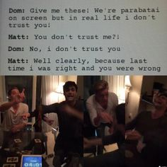 Dom and Matt ( Jace and Alec ) // The Mortal Instruments // Shadowhunters // ABC Family