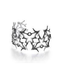Tribal Stunning Fitted 'Phoenix' Black and White Diamond Tribal Bracelet
