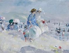 Martha Walter (American Impressionist, 1875–1976) Leaving the Beach