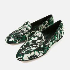 Designer Clothes, Shoes & Bags for Women Floral Print Shoes, Floral Prints, Printed Shoes, Loafer Shoes, Loafers Men, Zara United States, Me Too Shoes, Oxford Shoes, Dress Shoes