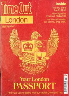 Time Out London Magazine cover