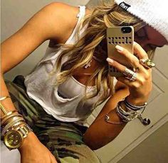 Image via We Heart It https://weheartit.com/entry/173525219 #accessories #casual #fashion #jewels #military #style