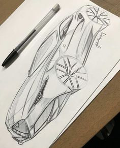 Learn how to draw a car using our step by step tutorials. Sports cars, classic cars, imaginary cars - we will show you how to draw them like the pros. Notebook Drawing, Car Design Sketch, Pen Sketch, Tuner Cars, Sketch Inspiration, Car Drawings, Cool Sketches, Transportation Design, Automotive Design