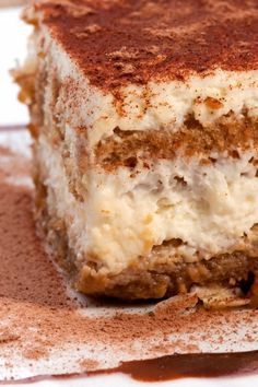 Simple Tiramisu | KitchMe Chocolate only for dusting top at end. Easily removable.
