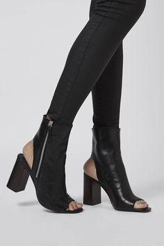 HOME Peep-Toe Boots - New In This Week - New In - Topshop