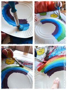 bricolage arc en ciel peinture