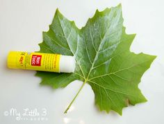 Autumn Crafts For Toddlers: Leaf Sewing. A pretty fine motor skills activity from My Little 3 and Me.