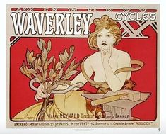 Vintage Wednesday: Art Nouveau Bicycle Posters | Cyclechic | - Love the fact that Waverley Cycles also made cigars!