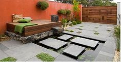 Beautiful contemporary courtyard, Jamie Durie Design