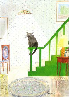 Le Chat de Sempé.  La fée du logis