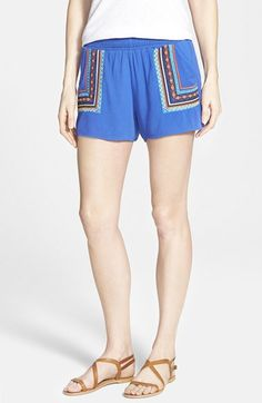 Miss+Me+Embroidered+Shorts+available+at+#Nordstrom