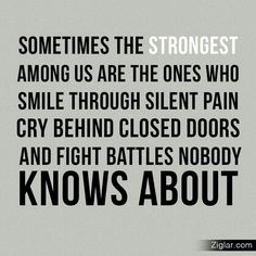 Yup.... always remember. What you see on the outside, is almost never a true reflection of what's going on inside....