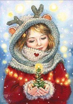 Christmas Scenes, Noel Christmas, Vintage Christmas Cards, Christmas Pictures, Winter Christmas, Christmas Crafts, Christmas Decorations, Reindeer Christmas, Father Christmas