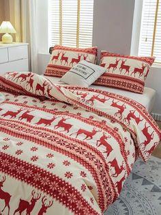 New Arrivals: Dresses, Swimwear, Tops, & More | SHEIN USA Comforters, Deer Decor, Blanket, Bed, Home, Swimwear, Christmas Deer, Bedding, Style