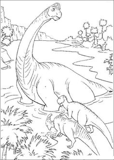 Free, Dinosaurs coloring pages 34 printable coloring book pages, connect the dot pages and color by numbers pages for kids. Dinosaur Coloring Pages, Free Adult Coloring Pages, Coloring Book Pages, Coloring Pages For Kids, Disney Dinosaur, Happy Colors, Drawing For Kids, Art Pages, Printable Coloring