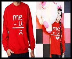 93297a748f Me U Me U Matching Couple Unisex Tshirt/ Sweatshirt by MydaGreat, $35.99