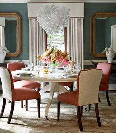 Classic and formal dining room.