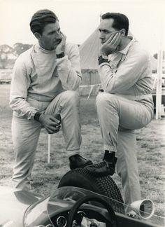 Graham Hill and Jack Brabham