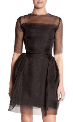 Gorgeous Lanvin Sheer Sleeve Dress