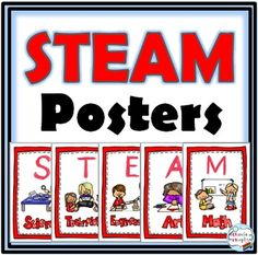 STEAM Posters - Primary Grades (Color and B+W)