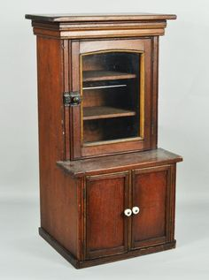 Miniature Victorian Wood Kitchen Cupboard