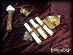 LARP EQUIP: Mage belt accessories III by FantasyForgeLARP.deviantart.com on @DeviantArt