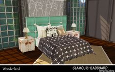Sims 4 CC's - The Best: GLAMOUR HEADBOARD VIBRANT COLORS by Sims 4 Wonderl...