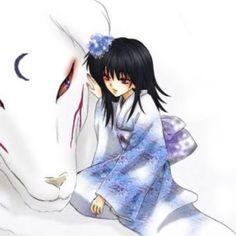 Sesshomaru(Dog Form) and Rin Fanart
