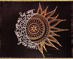 11x14 CUSTOM Painted Canvas -- Live By The Sun, Love By The Moon #tattooideas