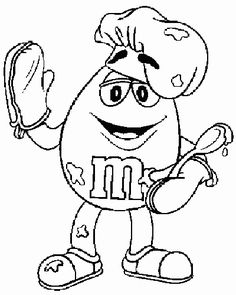M_and_M_coloring_pages_025 - Coloring Pages ABC Kids Fun Page