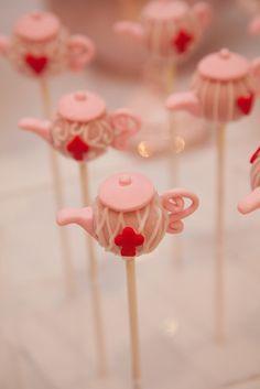 Teapot cake pops #cakepops