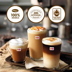 Dunkin Donuts – ENJOY YOUR MOMENT Cronut, Mojito, Nutella, Dunkin Donuts, Pint Glass, Tableware, White Chocolate, Chocolate Pies, Caramel