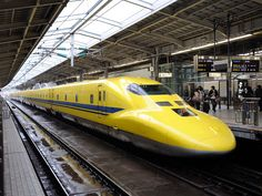 Dr. Yellow bullet train in Japan - Dr. Yellow is designed specifically for checking the rails of Shinkasen bullet train.