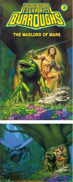 MICHAEL WHELAN - The Warlord of Mars by Edgar Rice Burroughs - 1979 Del Rey / Ballantine