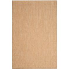 Courtyard Natural/Cream (Natural/Ivory) 9 ft. x 12 ft. Indoor/Outdoor Rectangle Area Rug