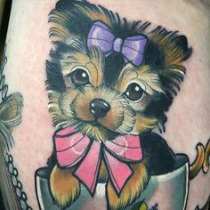 Too fun! Did this this morning on a lovely lady X  #pooch #yorkie #cute #pupinacup