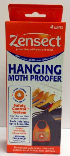MOTH PROOFER ZENSECT HANGING MOTH PROOFER WARDROBE MOTH KILLER PACK OF 4 UNITS | eBay