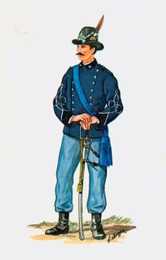 Regio Esercito - Sottotente del 5° Rgmt Alpini, 1875
