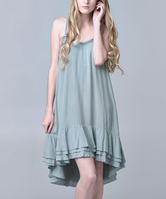 Look at this Kokette Teal Ruffle Swing Dress on #zulily today!
