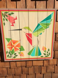 Hummingbird  Barn Quilt