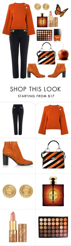 """""""Cozy sweater"""" by janew455 ❤ liked on Polyvore featuring Boutique Moschino, Vanessa Bruno, Chloé, Proenza Schouler, Versace, Yves Saint Laurent, tarte, Morphe and Butter London"""