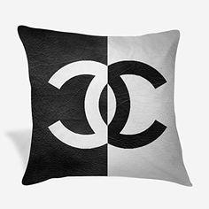 White Throws, White Throw Pillows, Throw Pillow Covers, Chanel Black, Lululemon Logo, Black And White, Amazon, Amazons, Black N White