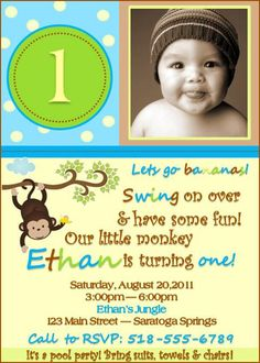 Free printable little monkey birthday invitation template birthday monkey birthday invitation boy girl design by swankk on etsy filmwisefo Image collections