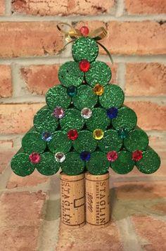Wine Cork Christmas Tree di AllThingsCorkbyAnnie su Etsy #winecorks